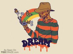 Dream T-Shirt - https://teecraze.com/dream-t-shirt/ -  Designed by wytrab8    #TCRZ #Horror #NightmareOnEkmStreet