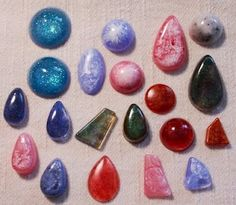 Resin gemstone jewelry tutorial