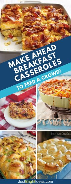 You have to see these Make Ahead breakfast casseroles – they are perfect for feeding a crowd! Try them for Easter, Mother's Day and of course Christmas!