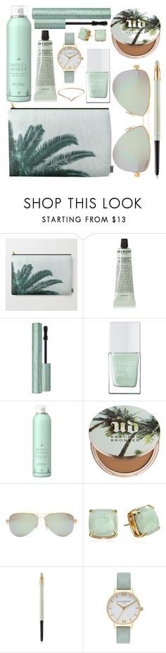 """""""What's In My Pouch"""" by by-jwp ❤ liked on Polyvore featuring beauty, Grown Alchemist, Too Faced Cosmetics, The Hand & Foot Spa, Drybar, Urban Decay, Tiffany & Co., Kate Spade, Lancôme and Olivia Burton"""