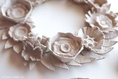 michele made me: Ahhh, Egg Carton Wreath...LC: This one's a 1st for me, egg cartons???