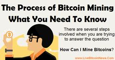 There are several steps involved when you are trying to answer the question – how can I mine bitcoins? http://www.livebitcoinnews.com/process-bitcoin-mining-need-know/