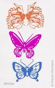 Поделка изделие Вырезание Бабочки Бумага фото 2