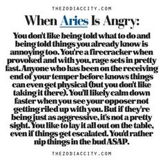 aries sign with anger | Just Another Random Zodiac Book