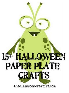 halloween paper plate crafts for kids, halloween paper plate craft ideas Halloween Paper Plate Crafts For Kids, Halloween Projects, Halloween Ideas, Holiday Crafts, Holiday Fun, Fall Crafts, Holidays Halloween, Halloween Party, Classroom Art Projects