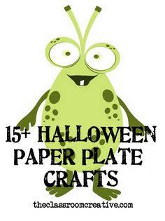 halloween paper plate crafts for kids, halloween paper plate craft ideas