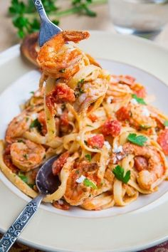 #RECIPE - Shrimp Linguine in a Tomato and Feta Sauce (aka Shrimp Saganaki Linguine) | The Man With The Golden Tongs | Scoop.it