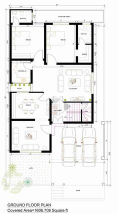 Duplex House Plans, House Layout Plans, Bungalow House Design, House Layouts, House Floor Plans, 10 Marla House Plan, Simple House Plans, Beautiful House Plans, 30x50 House Plans