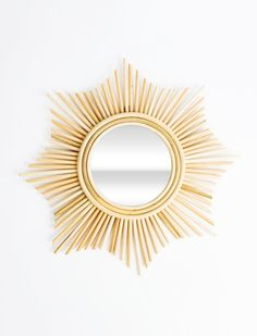 This mirror will add the perfect dose of sunshine to your home decor! Handmade in Bali by an artisan named Jonny, who grew up learning to make furniture and products from rattan. Mirror approximately Rattan design approximately Sun Mirror, Sunburst Mirror, Beautiful Home Designs, Interior Decorating Styles, Front Door Decor, Handmade Home Decor, Hanging Baskets, Bohemian Decor, Home Decor Inspiration