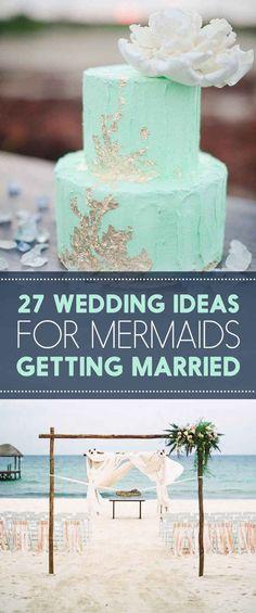 27 Ocean-Themed Wedding Ideas For People That Love Mermaids Not huge on mermaids, but some cool ocean theme ideas