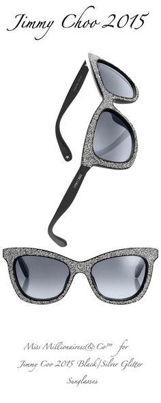 Jimmy Choo 2015 'Black/Silver Glitter Sunglasses'