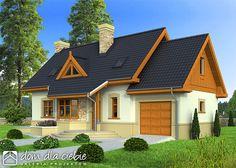 Projekt domu: Agatka II z garażem - Widok od ogrodu