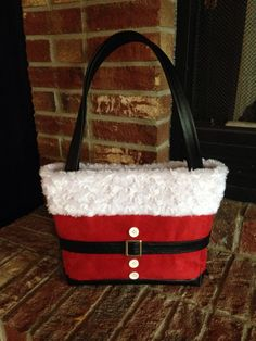 Inspired by Pinterest. Santa purse bag