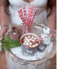 Hot Chocolate station The Night Before Christmas, Christmas Love, Christmas Candy, Christmas Treats, Burlap Christmas, Christmas Parties, Christmas Bells, Homemade Christmas, Deer Wedding