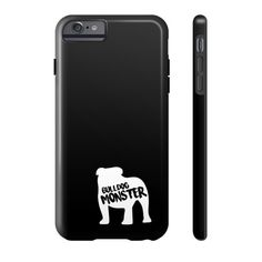 Bulldog Monster on Black Phone Case
