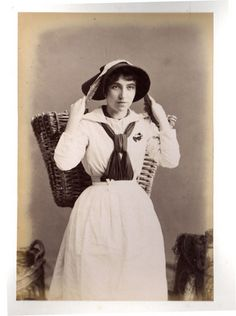 Picture of a Cornish fishergirl, one of many images of the Penzance area taken by Robert Preston and contained within an album. - Collections - Penlee House Gallery and Museum Penzance Cornwall UK