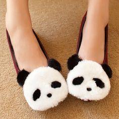 Cute Panda Flats these are adorable Panda Outfit, Panda Lindo, Panda Nursery, Panda Gifts, Panda Party, Cute Slippers, Berber, Panda Love, Kawaii Fashion