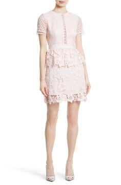 New Ted Baker London Dixa Layered Lace Skater Dress, Black fashion dress online. [$465]>>newtstyle Shop fashion 2017 <<