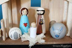 Peg Doll Nativity~ Baby Jesus