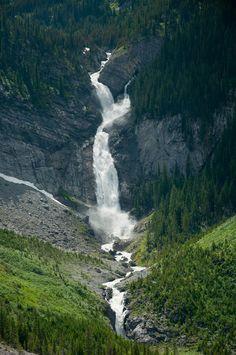 Waterfall  Jasper National Park