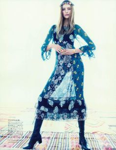 The Girl From Bohemia: Sanne Vloet for Vogue Japan March 2015