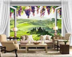 Resultado de imagem para adesivos de parede para sala paisagens e portas…