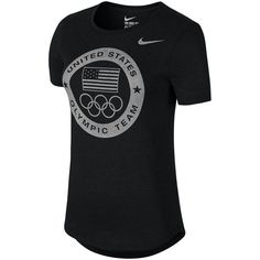 Team USA Nike Women's Dri-Blend Logo Performance T-Shirt - Charcoal
