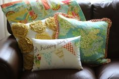 Oh Happy Day Pillow by TaDa! Creations