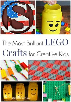 Brilliant LEGO crafts for creative kids. LEGO craft ideas for kids of all ages. Create with LEGO. Crafts for kids using LEGO. Projects for kids using LEGO. Creative Kids, Creative Crafts, Fun Crafts, Diy And Crafts, Crafts For Kids, Kids Diy, Simple Crafts, Lego Balloons, Balloon Cars
