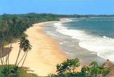 Beach on the Ivory Coast in Africa