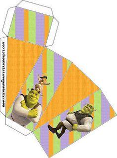 Cajitas imprimibles de Shrek.