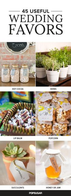 Here are some wedding favor suggestions that will make your guests think twice about throwing them away.