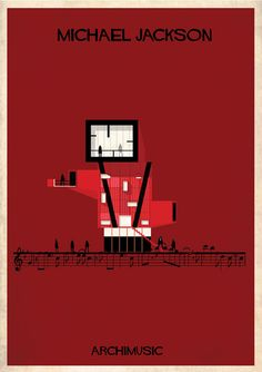 Classic songs illustrated as buildings – Billie Jean by Michael Jackson.