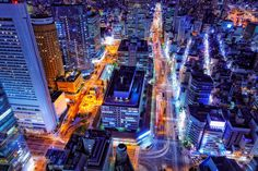 View from the Breeze-tower, Umeda,Osaka Japan | Saturated City by Yoshihiko Wada, via 500px