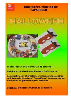 Cartel Halloween  Biblioteca Pública de Caparroso