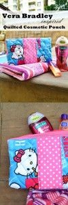 vera bradley inspired cosmetic bags tutorial on Sew Some Stuff