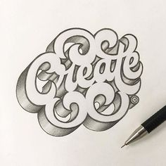 """""""Create"""" by @anthonyjhos  #StrengthInLetters #Goodtype"""