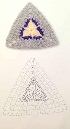 triangle crochet flower pattern