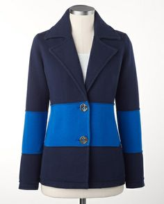 Colorblock sweater jacket -CWC