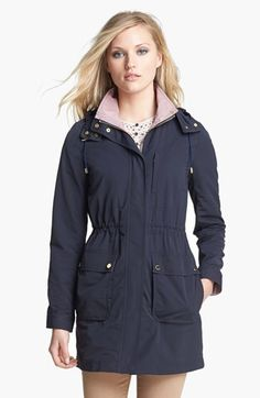 Tory Burch 'Amanda' Hooded Anorak available at #Nordstrom
