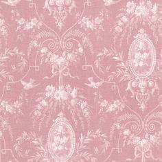 "Brewster Home Fashions La Belle Maison Flourish Fleur 33' x 20.5"" Damask 3D Embossed Wallpaper"