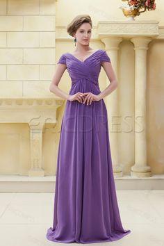 Delicated Pleats V-Neckline Floor-Length Mother of the Bride Dress Mother of the Bride Dresses 2014- ericdress.com 8883943