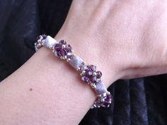 Bracciale in tessitura di perline Pyamides di SognantiStelleBijoux