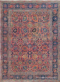 Persian Tabriz rug, 4ft 6in x 6ft, 3rd Quarter 19th Century
