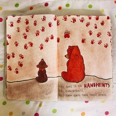 wreck this journal // this page is for handprints