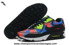 Nike Air Max 90 2013 Differentiation Black Green Orange Mens Shoes Free Running Shoes