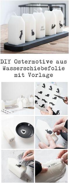 DIY Ostermotive aus Wasserschiebefolie mit Vorlage zum kostenlosen Download