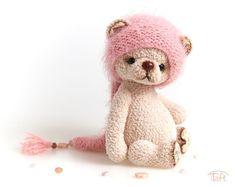 bear toy Cute amigurumi teddy bear toy Rebeca, crochet stuffed plush bear animal with clothes eddy bear Rebeca is a jointed teddy bear. She is about 8 inches tall. Rebeca has b Crochet Teddy, Crochet Bunny, Cute Crochet, Crochet Toys, Crochet Crafts, Crochet Animal Patterns, Crochet Animals, Teddy Bear Toys, Teddy Bears