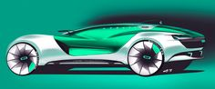 Car design sketches #2 on Behance