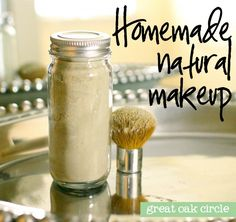 Homemade natural translucent powder | Great Oak Circle, blog design, logo and print design, DIY blog